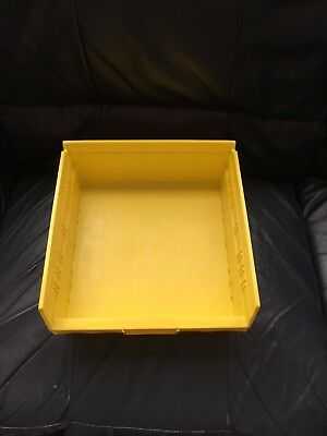 AKRO-MILS 30170YELLO Shelf Bin, 11-5/8 In. L, 4 In. H, Yellow