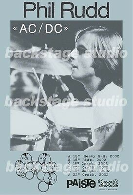 Phil Rudd AC/DC Drummer PAISTe Profile Poster LIMITED DISCOUNT!