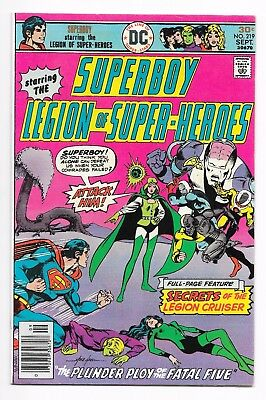 Superboy & The Legion of Superheroes #219 (1976) VG+/F or Better NR!