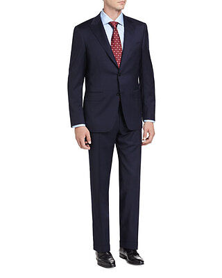 New CANALI 1934 Blue Striped 2 Button Wool Suit Size 54/44 R Drop 7 - Tag $1895