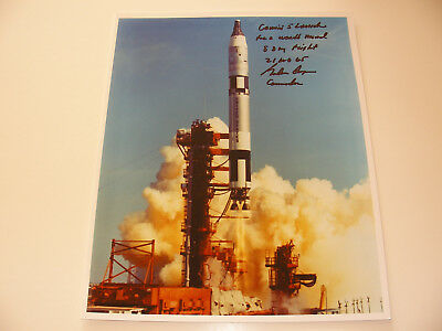 Mercury Faith 7 Astronaut Gordon Cooper Hand-Signed Gemini 5 Launch Photo NASA