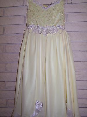 Girls Yellow Special Occasion Party Wedding Pageant Church Holiday Dress Size 7