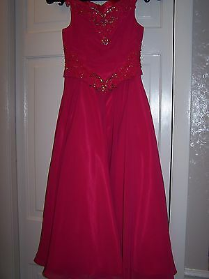 NWT Girls PERFECT ANGEL Pink Pageant Dance Dress Gown Pink 4T