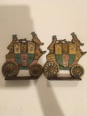 Vintage 1930's Cast Iron London Royal Mail Bookends A.A.W.-1.