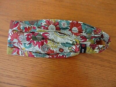 NEW Pistil Zinnia Cotton Headband One Size NWOT Magenta Pink Aqua