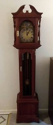 Emperor Grandfather Clock 1970's Model 120 Black Walnut