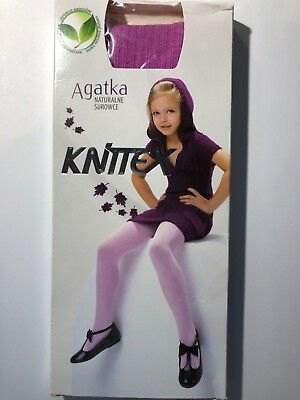 KNITTEX -GIRLS PATTERNED TIGHTS -40 DEN-SIZE-Age 3-4
