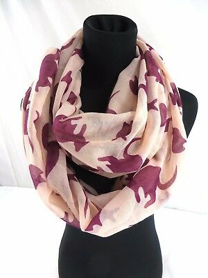 4921211243e US SELLER- FOX animal double loop infinity scarf Fashion Scarves Wholesale
