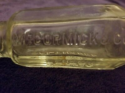Vintage Collectible McCormick & Co. Baltimore Spice Glass Bottle Tin Cap