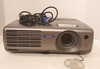 Epson LCD Projector Model: EMP-81, 474 Bulb lamp hours, power, VGA cord Working