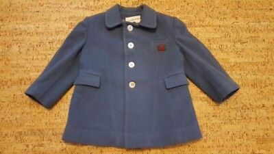 Beautiful VINTAGE CHILDS BLUE WOOL COAT SAKS FIFTH AVENUE