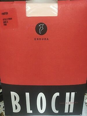 Bloch Pink Women's Size C Footed Tights Endura T0920