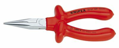 Knipex 25 07 160 S1 Chain Nose Pliers with Cutter, 1000 Volt Rated, 6.25 Inch
