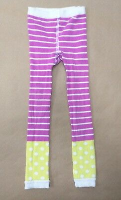 Hanna Andersson 90/100 (US 3-4) Girls Fun Footless Ankle Tights