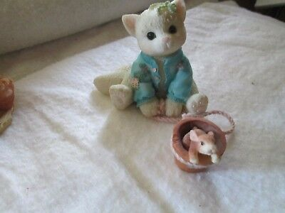 "Enesco Calico Kittens ""Some Bunny to Love You"""