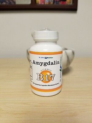 Vitamin B17 Amygdalin 500mg 100 Capsules.  Pure, made in the USA.  HIGH QUALITY!