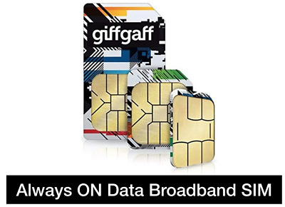 giffgafff Trio Pay as you go Roaming data Sim, Preloaded with unlimited* data