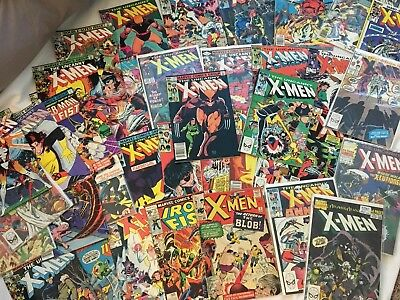Uncanny X-Men Silver & Bronze 39 Issue Comic lot W/ #7 122 124 244 iron fist 15+