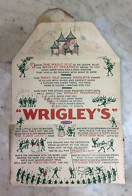 Antique Christmas Greetings Wrigley's The Magic Isle Greeting  Advertisement