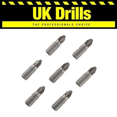 Screwdriver Insert Bits Chrome Vandium - Pz1 Pz2 Pz3 Ph2 X 25Mm - Low Prices