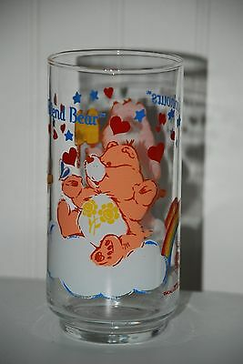 Vintage 1 Glass Care Bears Copinours Cheer Bear American Greetings 1984