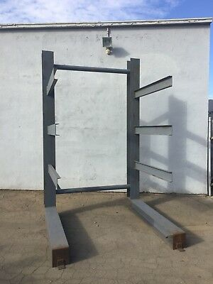 Heavy Duty 10 Ft. Tall Single Sided Cantilever Rack~Ontario, Calif.