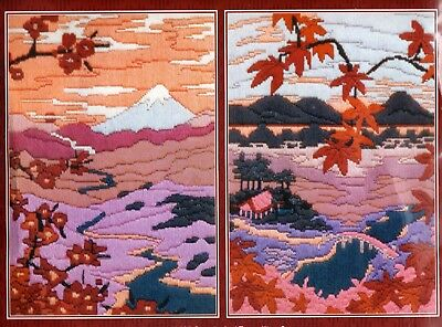 Serenity & Tranquility Tapestry Canvas Long Stitch Kit Picture Pair, Anchor, New