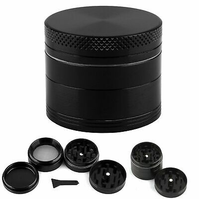 SILVER GRINDER 50mm 4 Part Magnetic Metal Teeth Herb Smoking Shredder Grinder