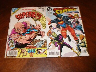 New Adventures of Superboy 35 1982 Superboy 21 1995 DC comic lot A