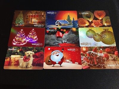 Canada Walmart Gift Card ----- Lot Of 9 Pcs. --- For Collectibles  ------ New