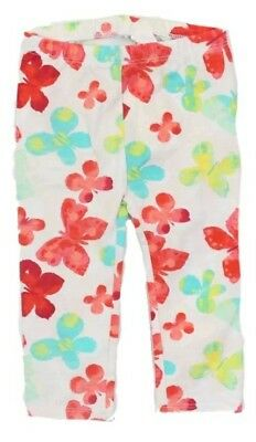 Baby Girls Butterfly Print Leggings SIZE 3 6 12 Months First Impressions White