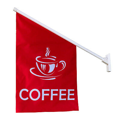 Coffee Flag - Wall Mounted Promotion Advertising Sign Flag Banner-2 Colors