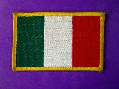 Italian Flag Patch Emroidered