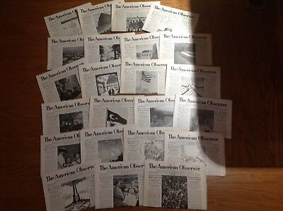 WWII THE AMERICAN OBSERVER newspaper large lot (23) Nazi Hitler Navy Army CD