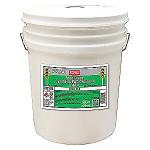 CRC Synthetic Gear Oil,5 gal.,ISO 130,Pail, 04580, Clear