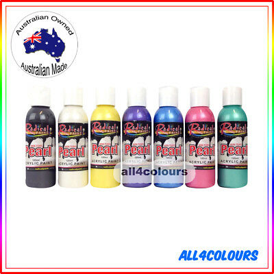 7PCS 125ml OZ Made Pearl Paint from Radical Paint Non Toxic