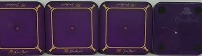 Crown Royal Lighted Coasters Set 4  Very Collectible  Free Shipping