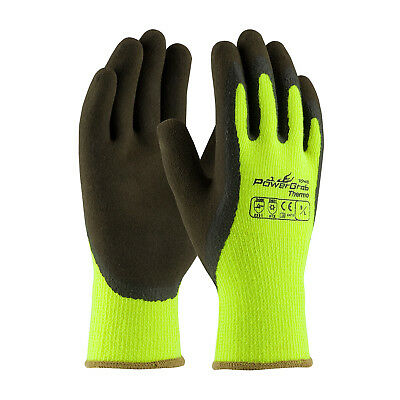 PIP  HeavyDuty Hi-Vis Lime Thermal Insulated MicroGrip Work Gloves Lot 6,3or1