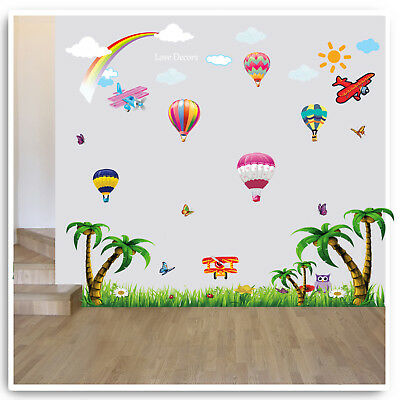 AM/_ Feather Banner Wall Sticker Home Decal Living Room Background Decor Removabl