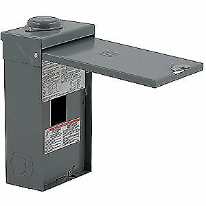 SQUARE D Steel Circuit Breaker Enclosure,Surface,3R, FA100RB, Gray