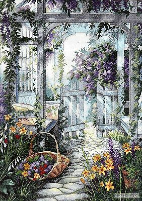 Garden Gate - Cross Stitch Chart - Free Postage