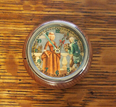 1949 Muros Animated Man with Flowers and Victorian Lady Clock for Repair
