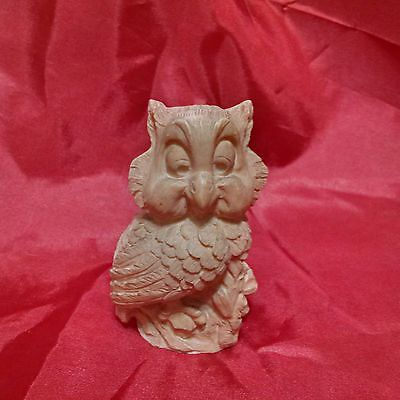 VINTAGE Sculpted OWL by A. Santini, Made in Italy !!