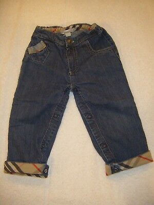 BURBERRY Toddler 18 Months Denim Jeans with Burberry Cuff