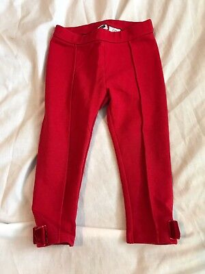 Baby Girl's Red Janie & Jack Leggings Size 18-24 Months Bows