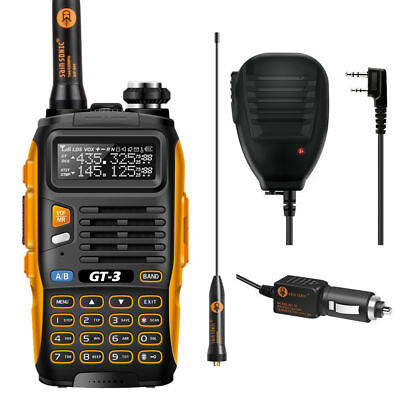 Baofeng GT-3 Mark II + Speaker& Earpiece V/U 136-174/400-520MHz Two-way Radio UK