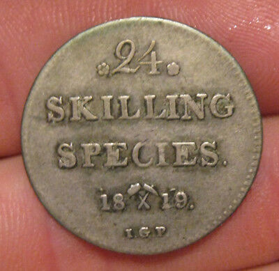 Norway - 1819 Silver 24 Skilling - Scarce