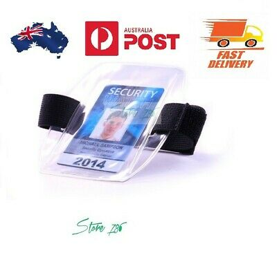 Armband ID Card Holder - Clear | Best for Security Officers | Australia Stock