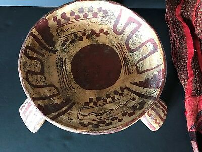 Old Mexico / South American Pottery Bowl …wonderful tribal designs