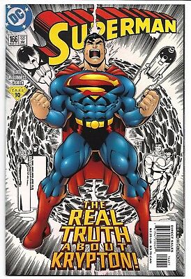 Superman #166 Foil Cover Nm Jeph Loeb Ed Mcguinness Truth About Krypton Dc Comic